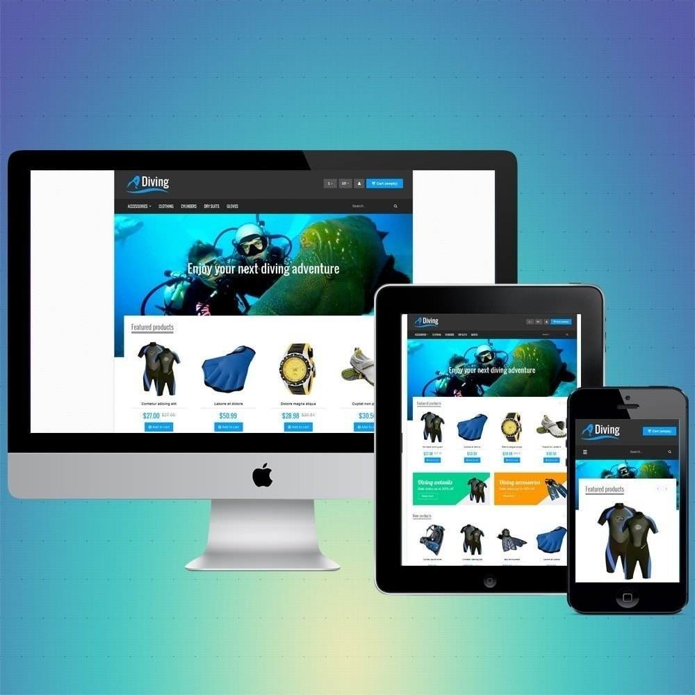 theme - Sports, Activities & Travel - VP_Diving Store - 1