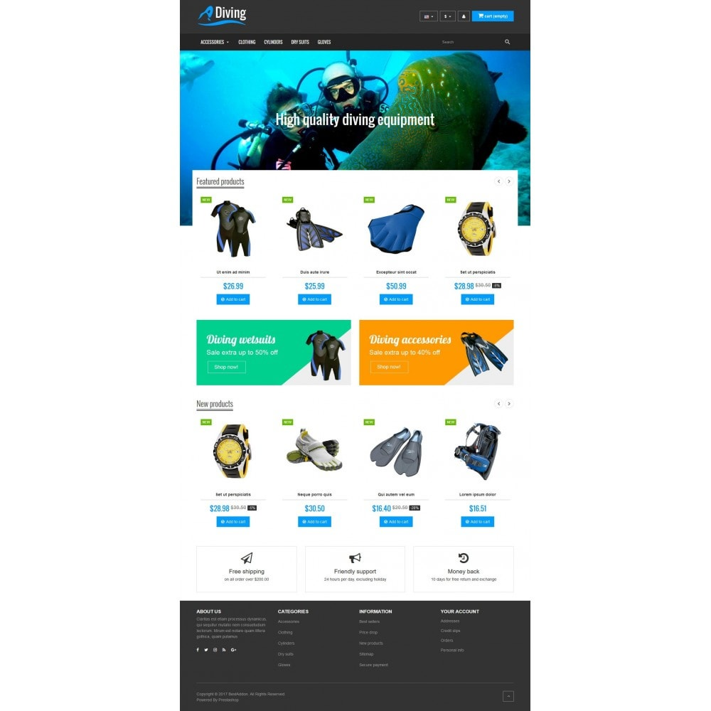 theme - Sports, Activities & Travel - VP_Diving Store - 2