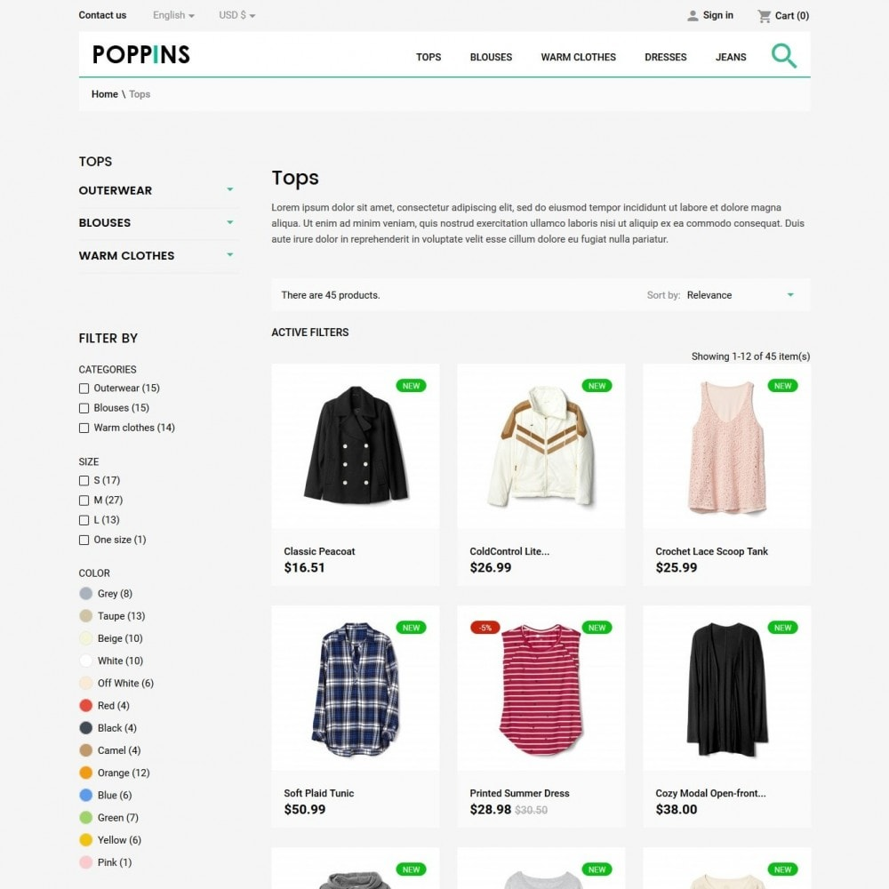 theme - Mode & Chaussures - Poppins Fashion Store - 5