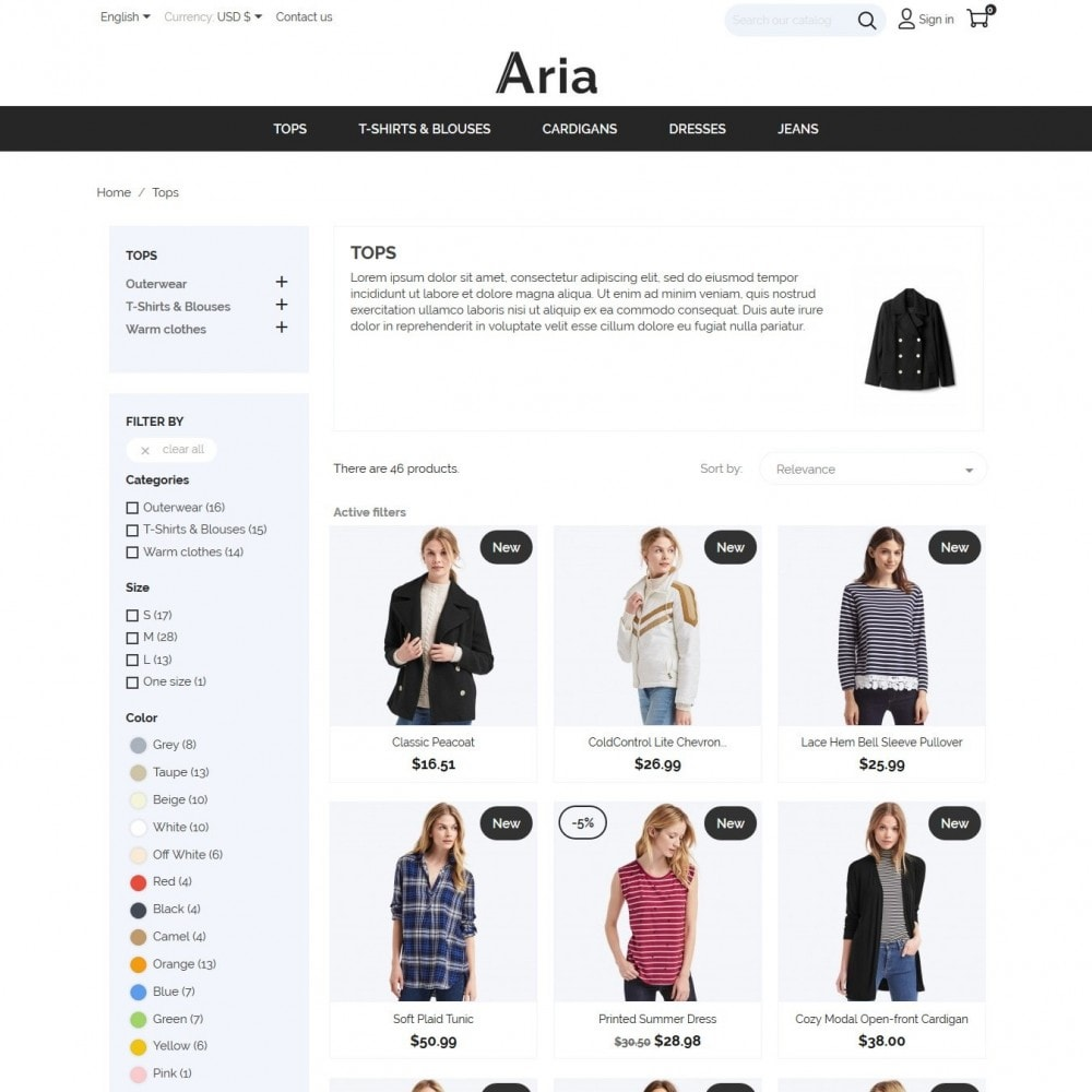 theme - Мода и обувь - Aria Fashion Store - 5
