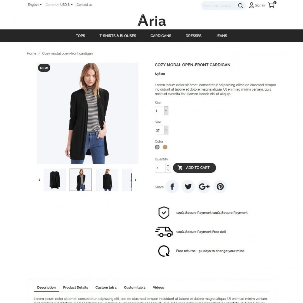 theme - Мода и обувь - Aria Fashion Store - 6