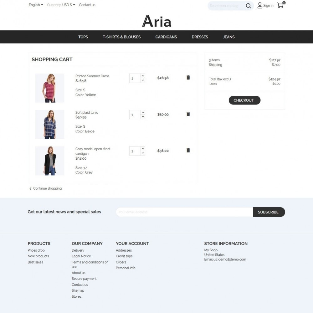 theme - Мода и обувь - Aria Fashion Store - 7