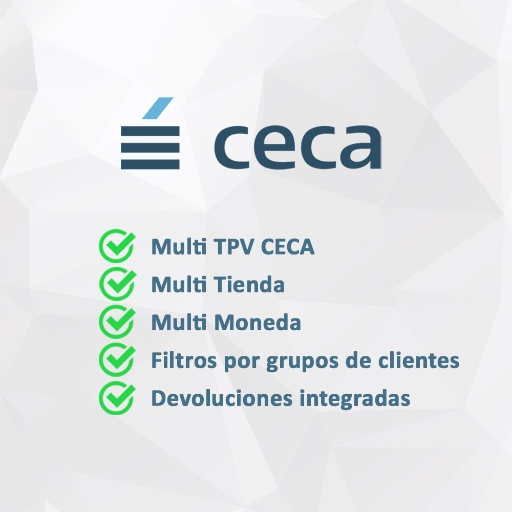 module - Pago con Tarjeta o Carteras digitales - TPV CECA COMPLETO (Pago seguro + Devoluciones) - 2