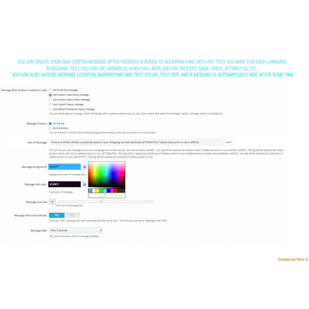 module - Inscripción y Proceso del pedido - Efecto volando al carrito, ocultar pop-up y otros - 5