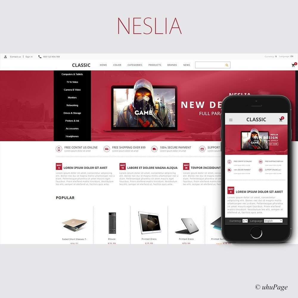 theme - Elektronik & High Tech - Neslia Computer Store - 1