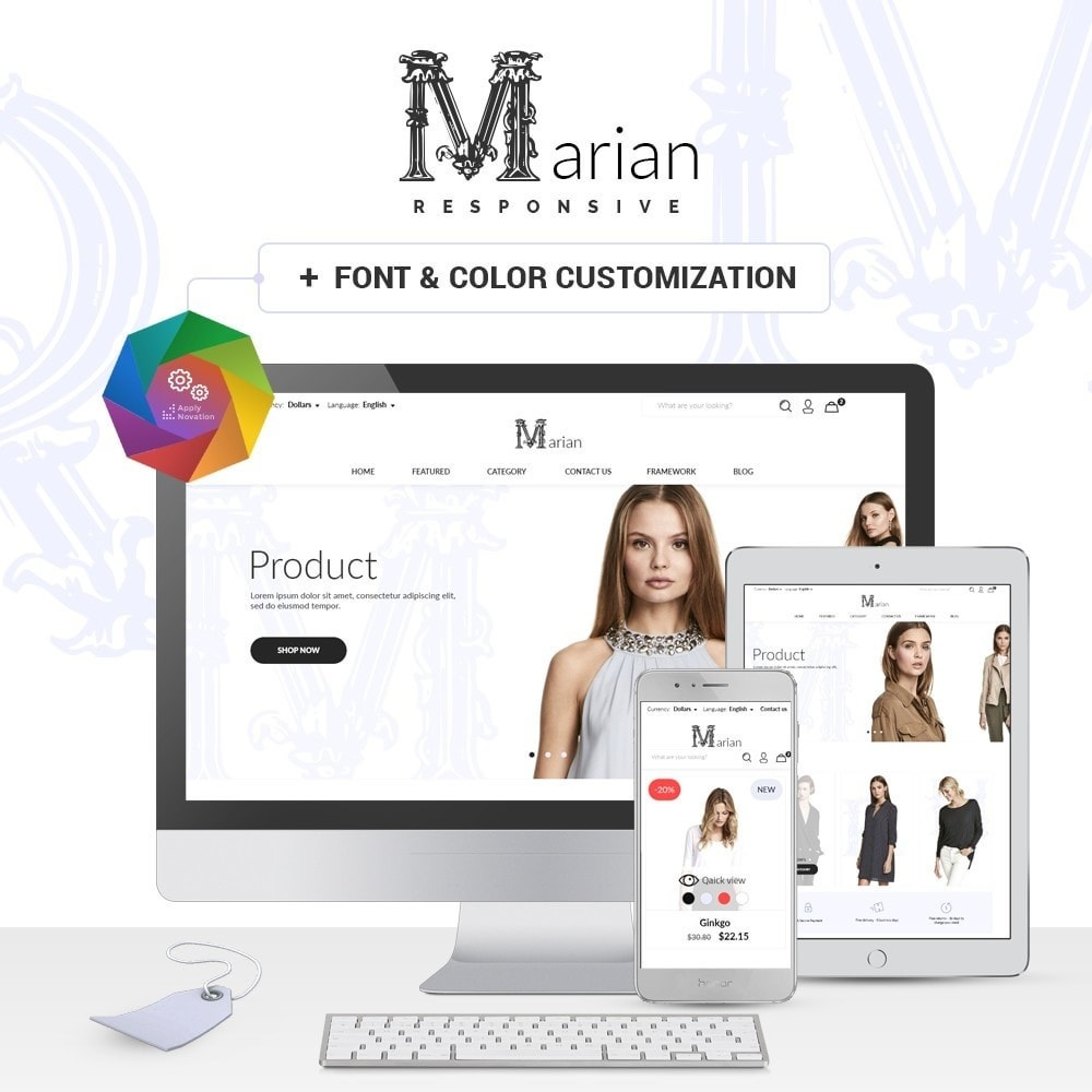 theme - Fashion & Shoes - Marian Fashion Store - 1