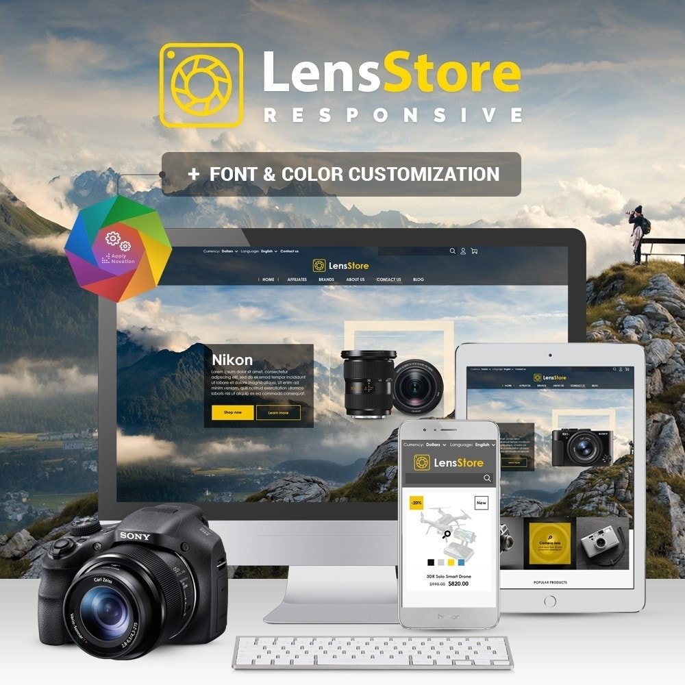 theme - Elektronika & High Tech - LensStore - 1