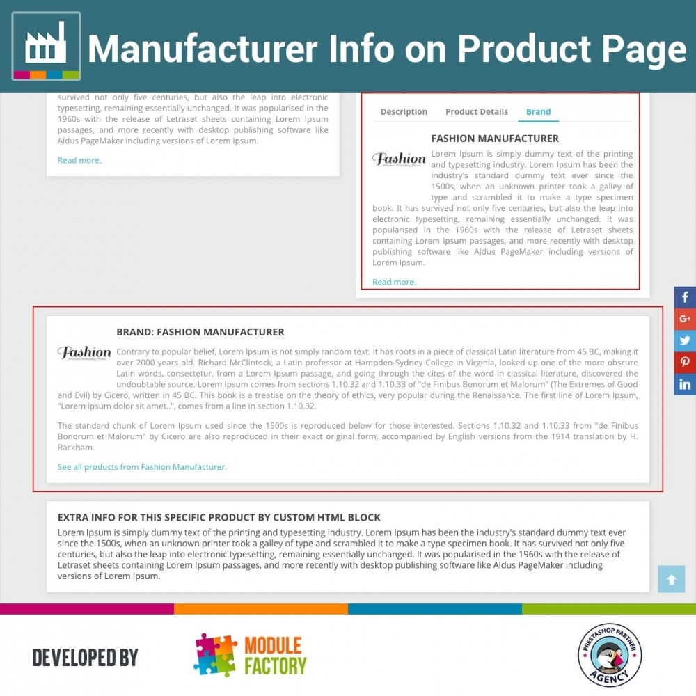 module - Brands & Manufacturers - Manufacturer Info on Product Page - 2