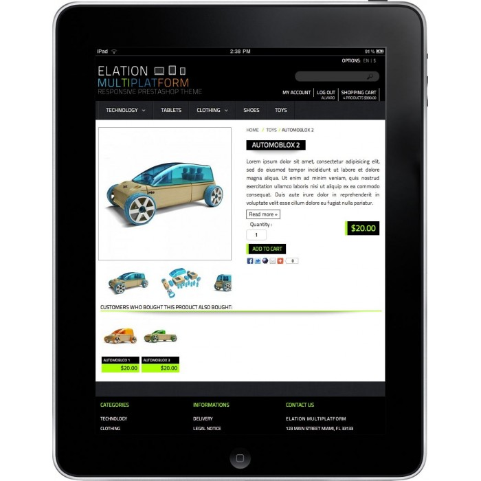 theme - Elettronica & High Tech - Elation Multi-Platform Responsive Design Theme - 6