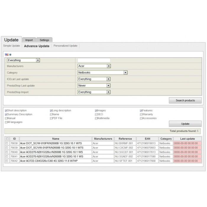 module - Edición Rápida y Masiva - Integración con Icecat (WICECAT PRO) - 4