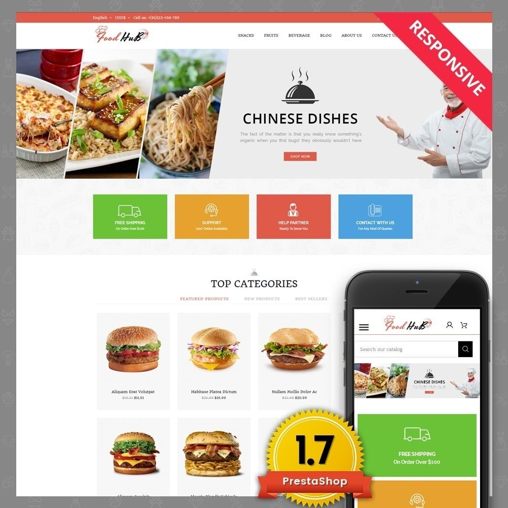 theme - Alimentation & Restauration - Food hub - 1