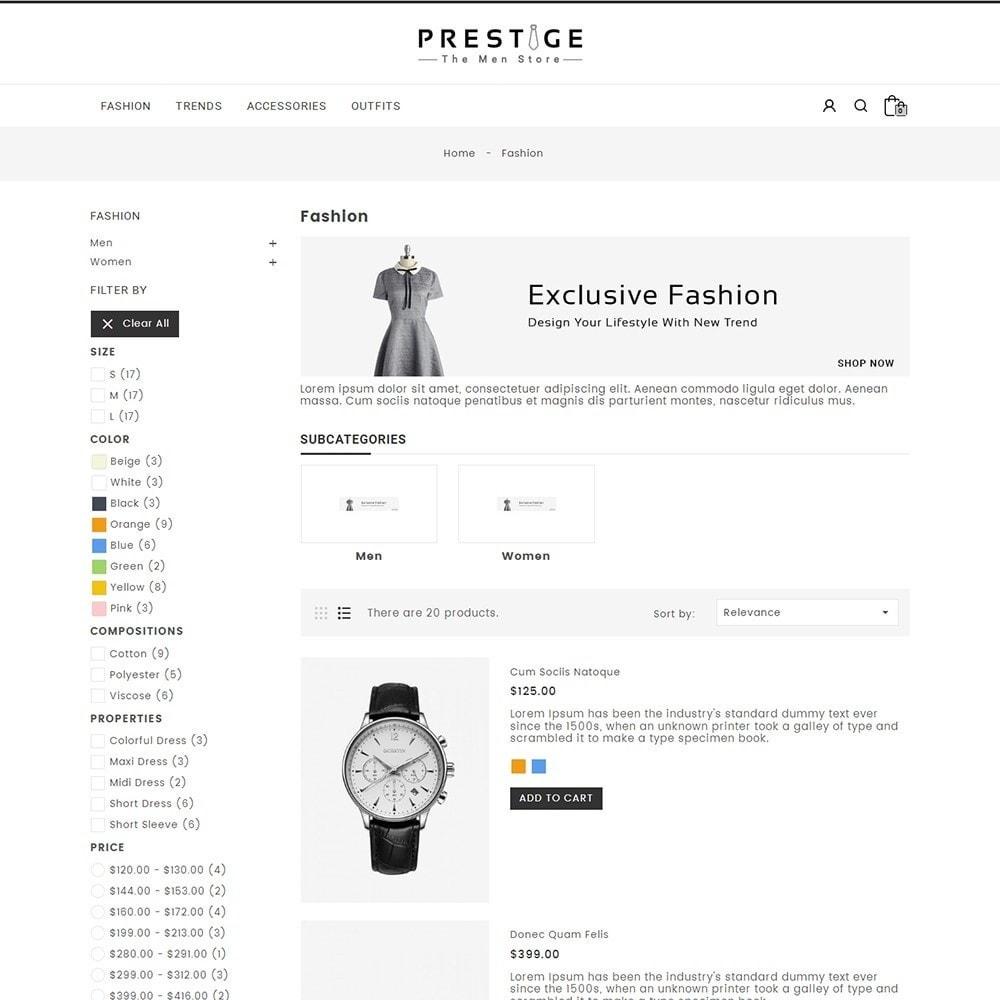 theme - Мода и обувь - Prestige Fashion Store - 4