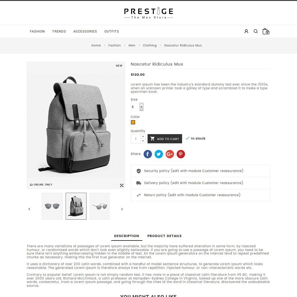 theme - Мода и обувь - Prestige Fashion Store - 5