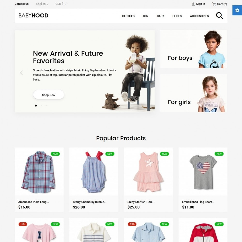 theme - Kids & Toys - BabyHood - 2