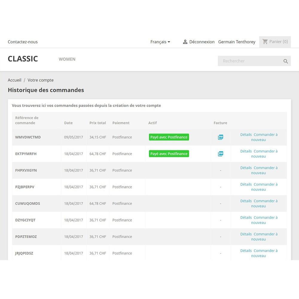 module - Pagamento por cartão ou por carteira - PostFinance & Twint - 7