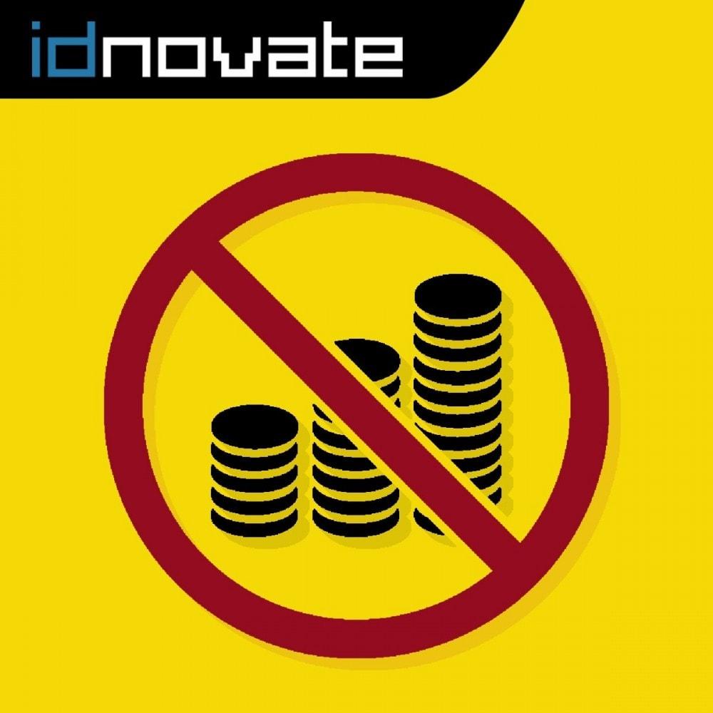 module - Gestión de Precios - Ocultar precio y desactivar la compra de productos - 1
