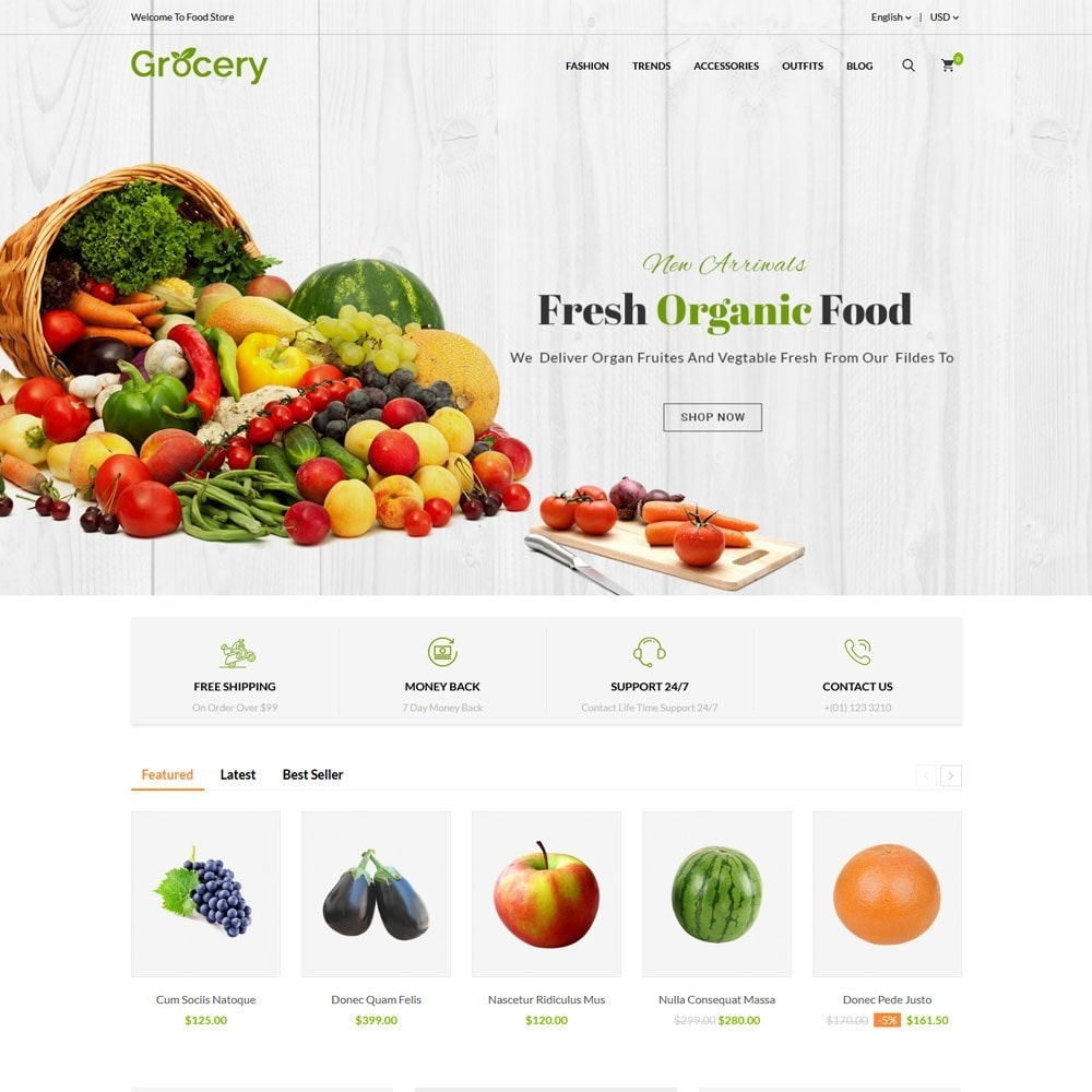 theme - Food & Restaurant - Grocery Store - 2