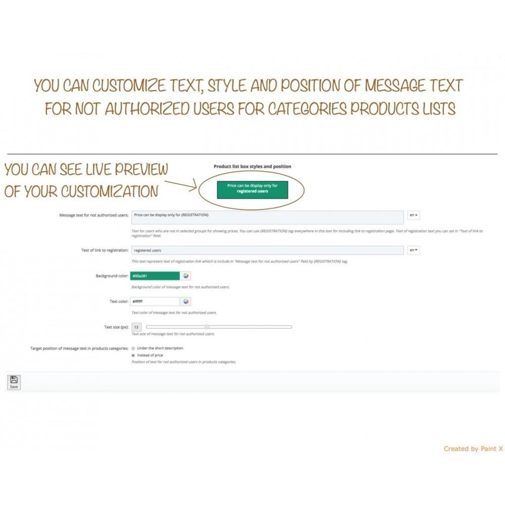 module - Gestion des clients - B2B dissimulation des prix pour clients non autorisés - 5