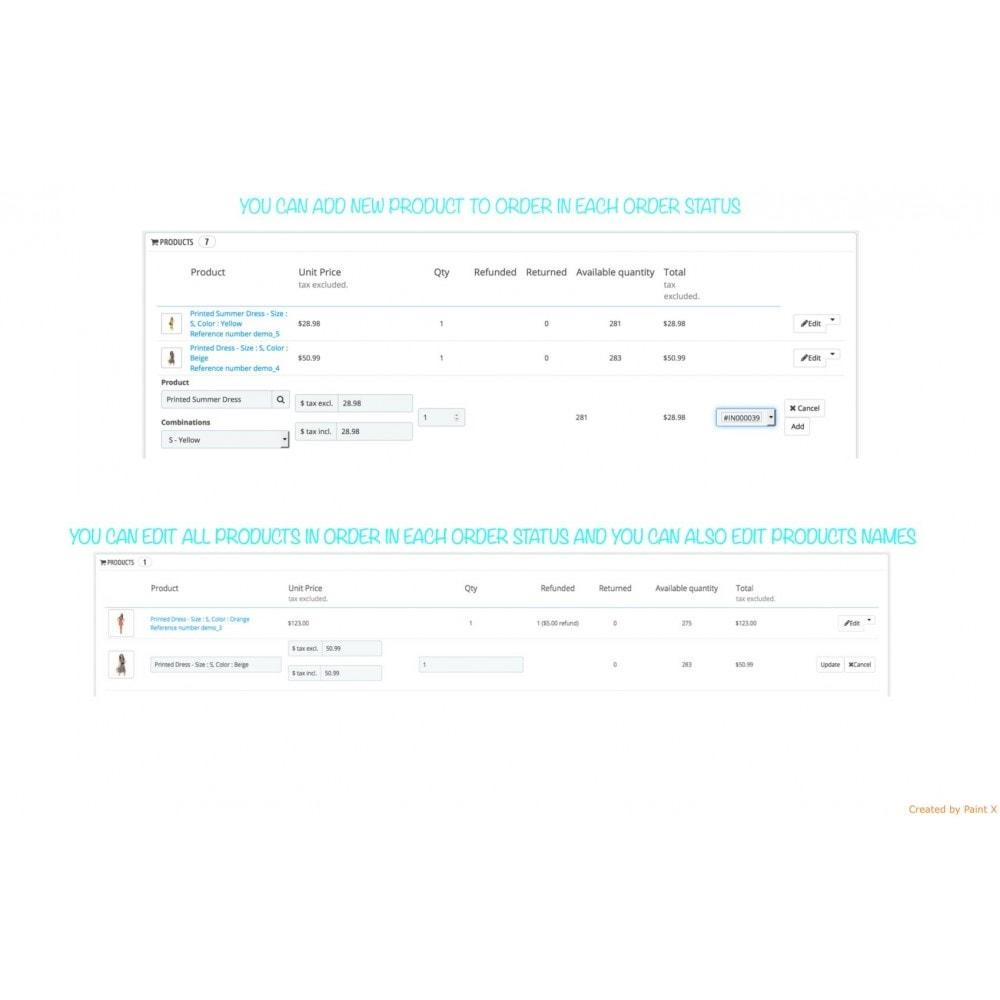 module - Gestion des Commandes - Management des commandes, édition des commandes - 2