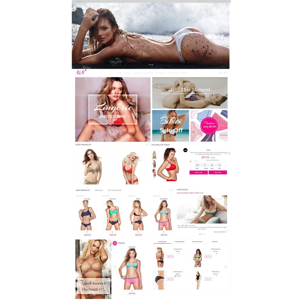 theme - Lingerie & Adulte - Bikini And Lingerie Shop - 2