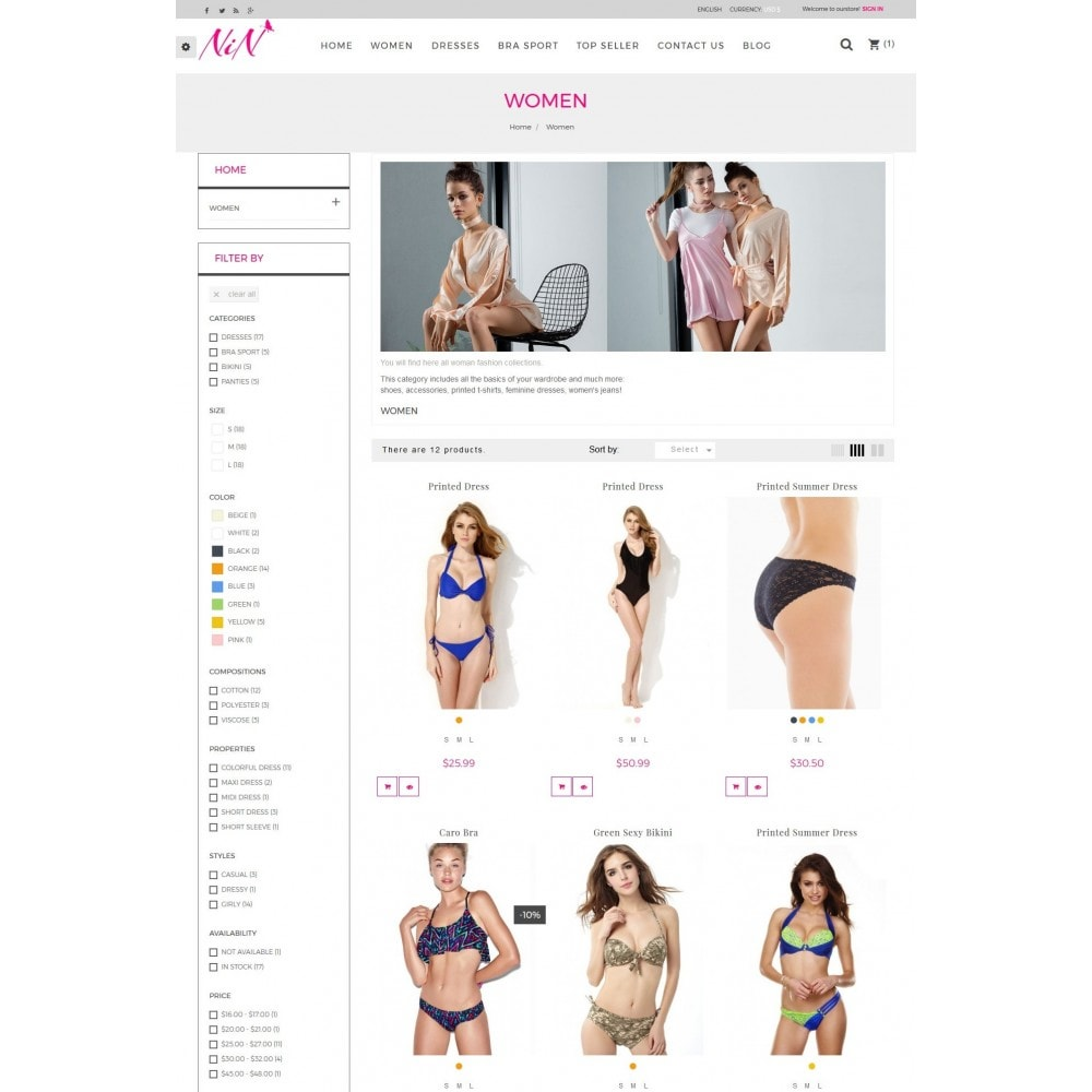 theme - Lingerie & Adulte - Bikini And Lingerie Shop - 4