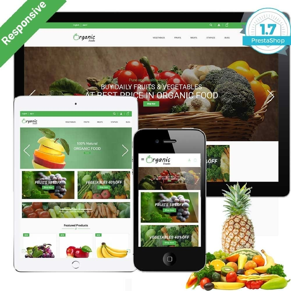 theme - Food & Restaurant - Organic Food Store - 1
