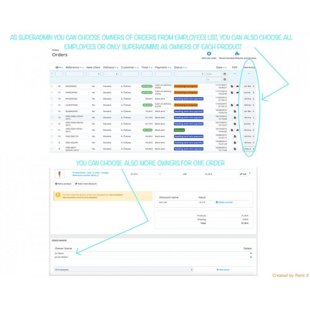 module - Gestión de Pedidos - Empleados como propietarios de productos y pedidos - 1