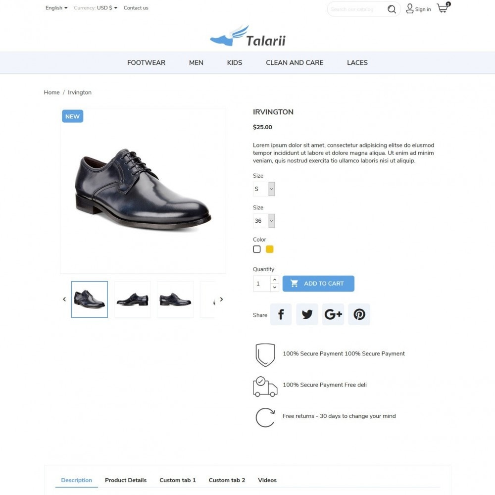 theme - Mode & Chaussures - Talarii Shop - 7