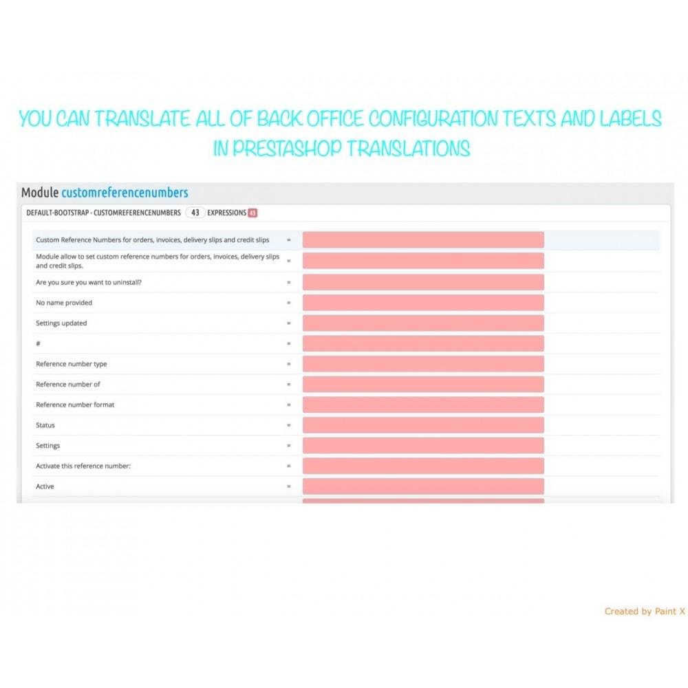 module - Contabilidad y Facturas - Números propios de pedido, factura, albanes y créditos - 9
