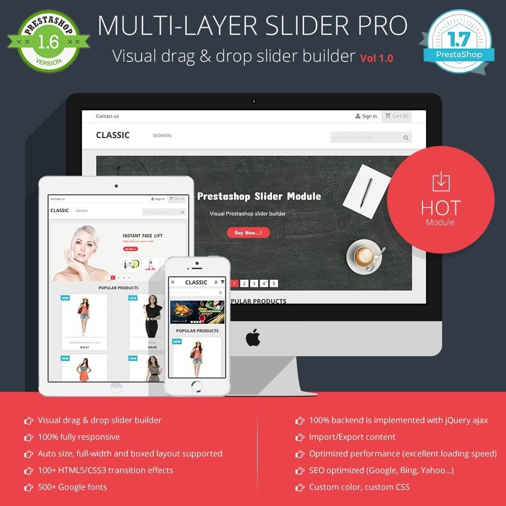 module - Sliders & Galerias - Multi-layer slider PRO - Visual Drag & Drop slider - 1
