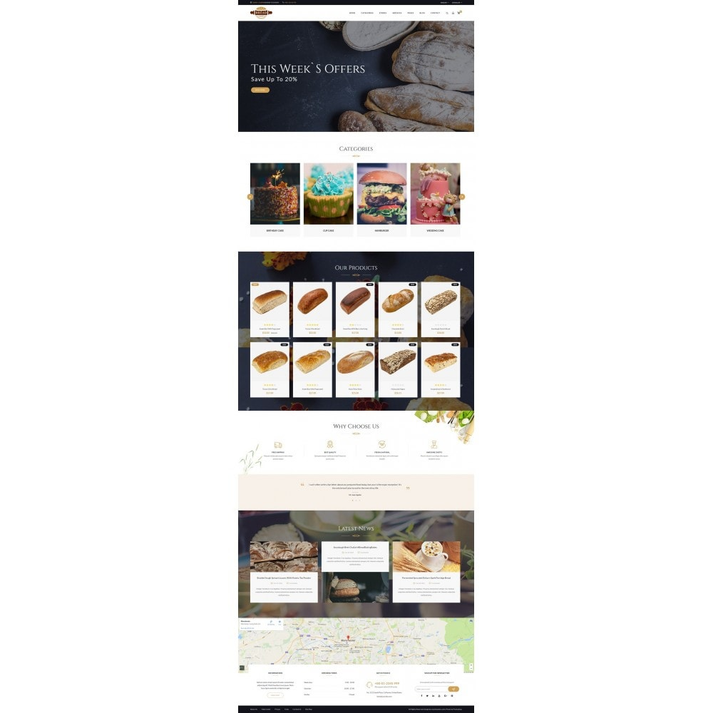 theme - Food & Restaurant - JMS Bread II - 7