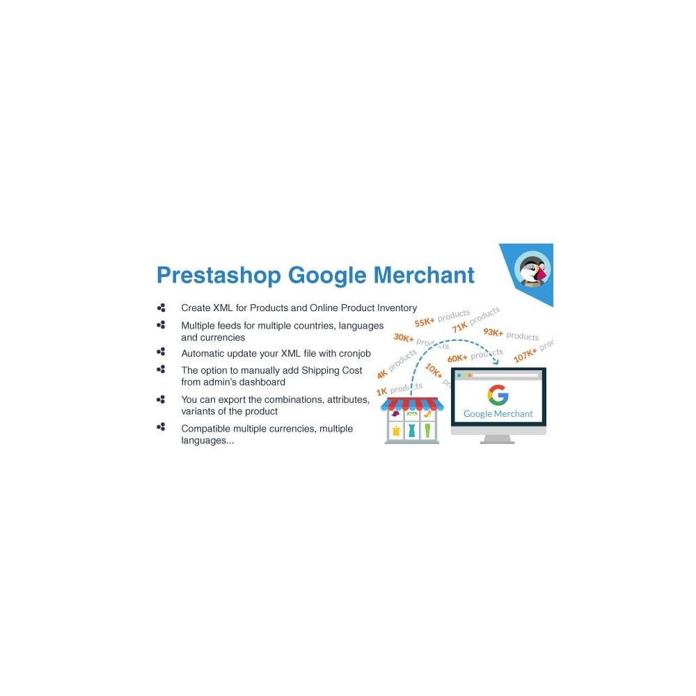 module - Platforma handlowa (marketplace) - Bulk Export products to Google Merchant-Google Shopping - 1