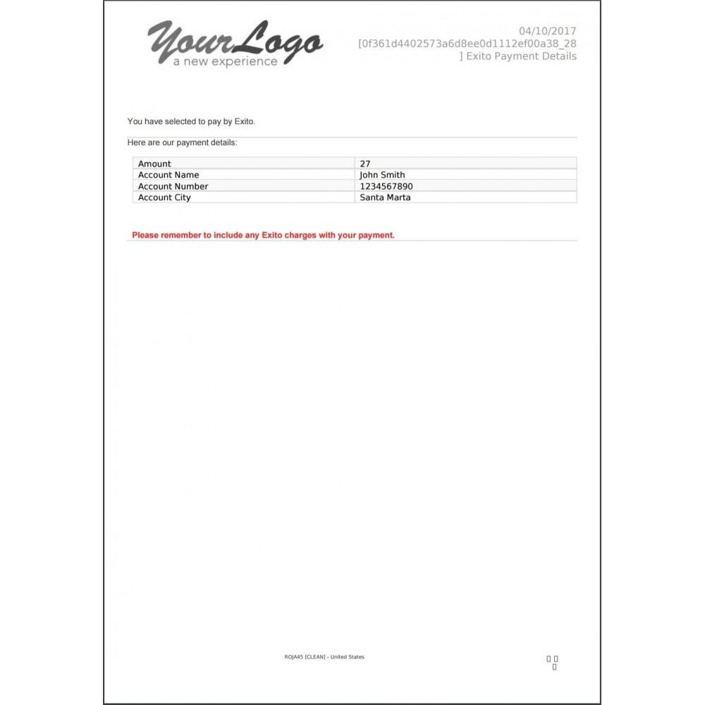 module - Otros métodos de pago - Pagos Exito - 11