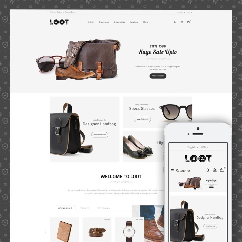 theme - Мода и обувь - Loot - Fashion Store - 1