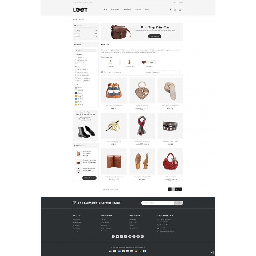 theme - Mode & Chaussures - Loot - Online Fashion Store - 3