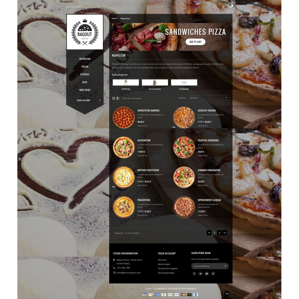 theme - Lebensmittel & Restaurants - Ragout Pizza Store - 4