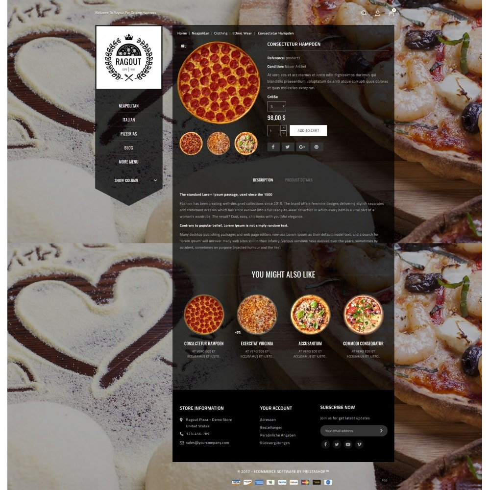 theme - Lebensmittel & Restaurants - Ragout Pizza Store - 5