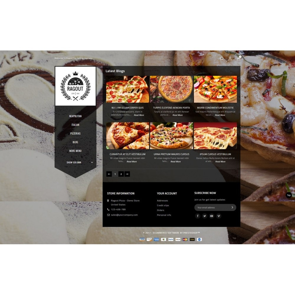 theme - Lebensmittel & Restaurants - Ragout Pizza Store - 9
