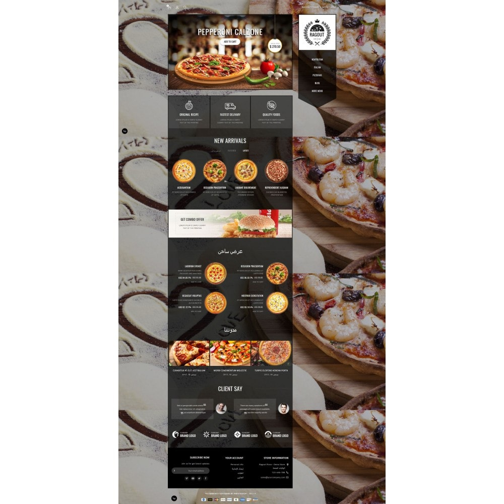 theme - Lebensmittel & Restaurants - Ragout Pizza Store - 10