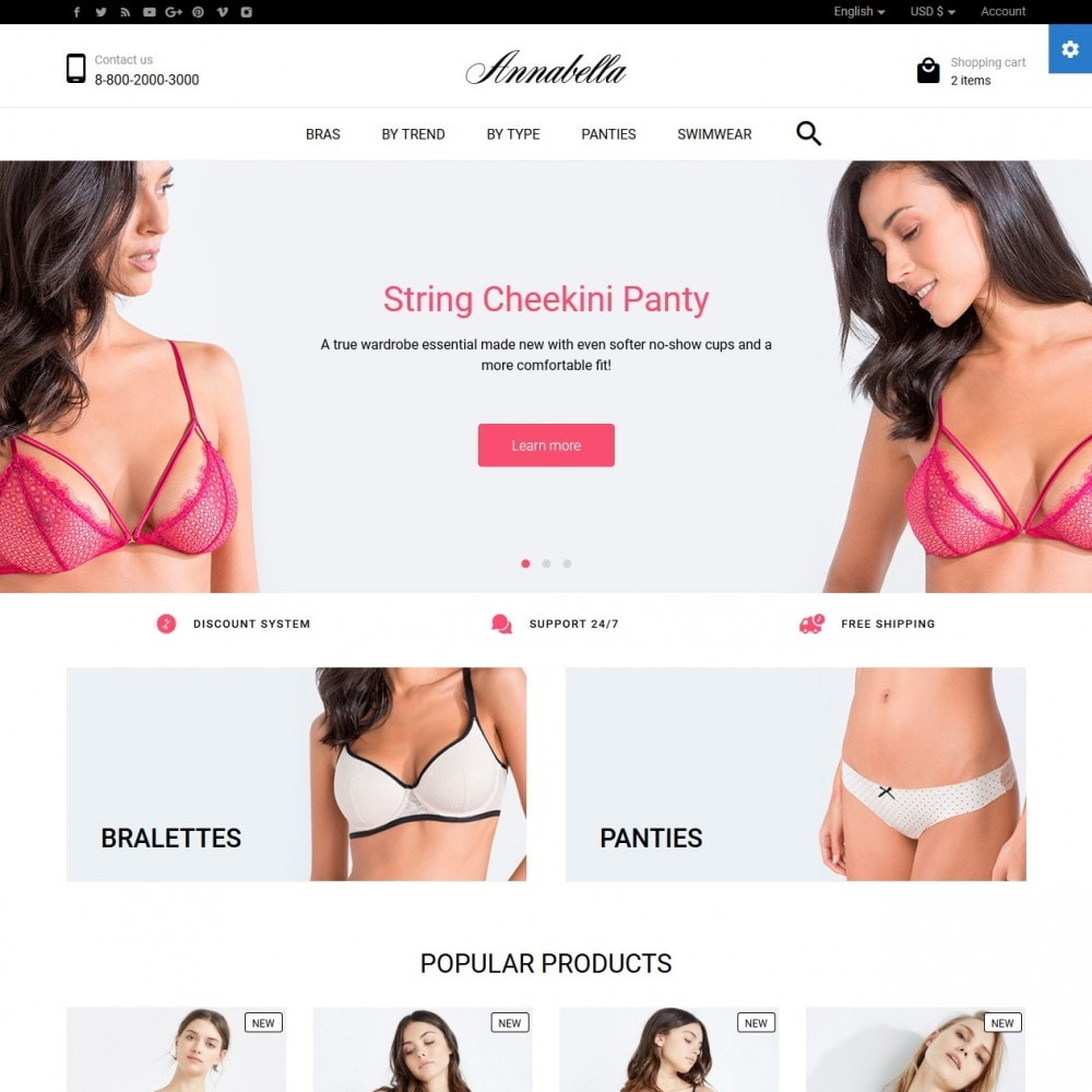 theme - Lingerie & Adulte - Annabella Lingerie Shop - 2