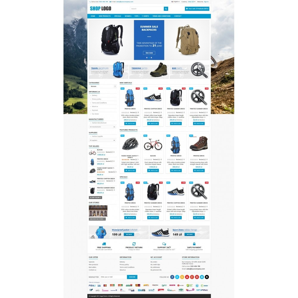 theme - Sports, Activities & Travel - ATS03 Bikes, sport and travel store - 2