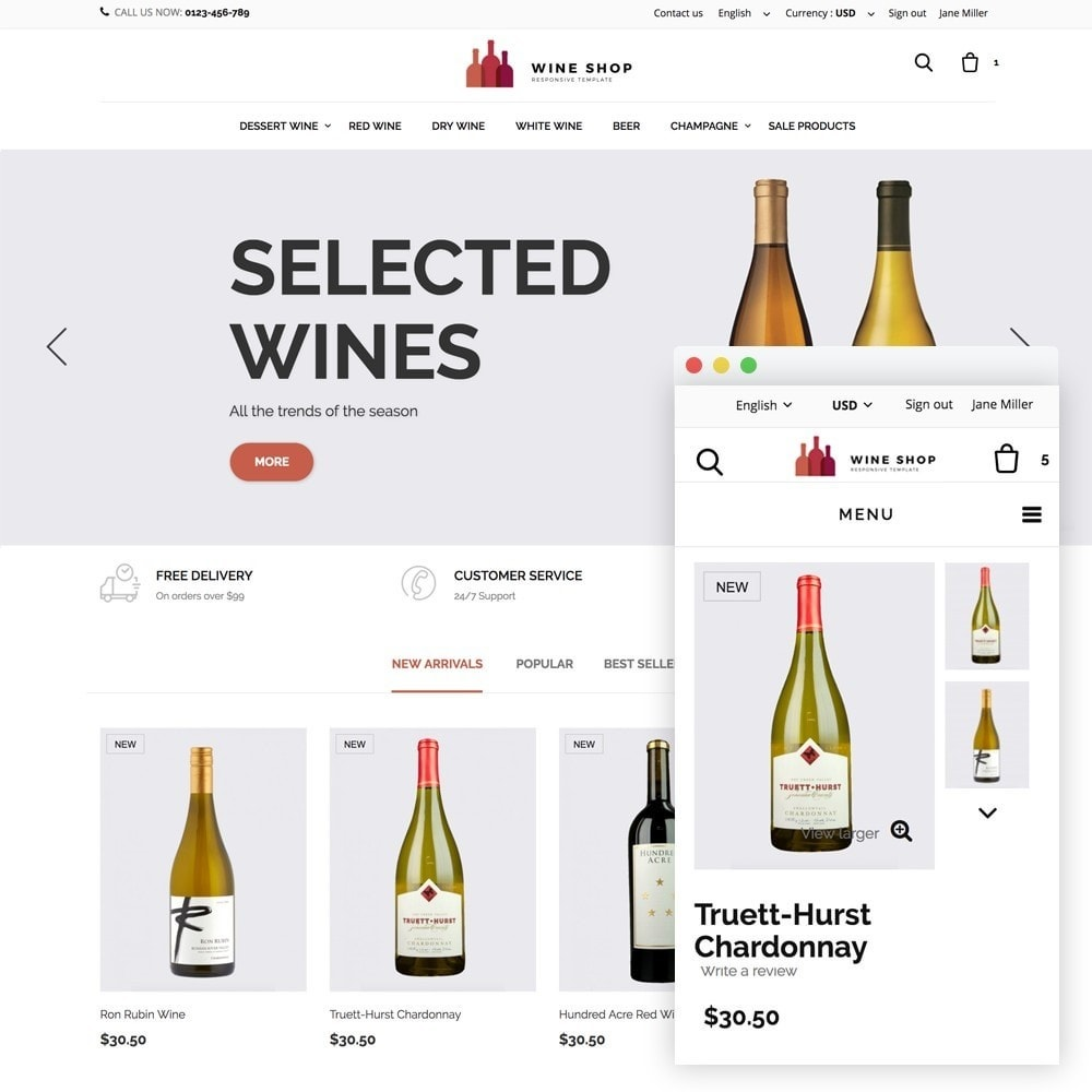 theme - Alimentos & Restaurantes - Wineshop - 1