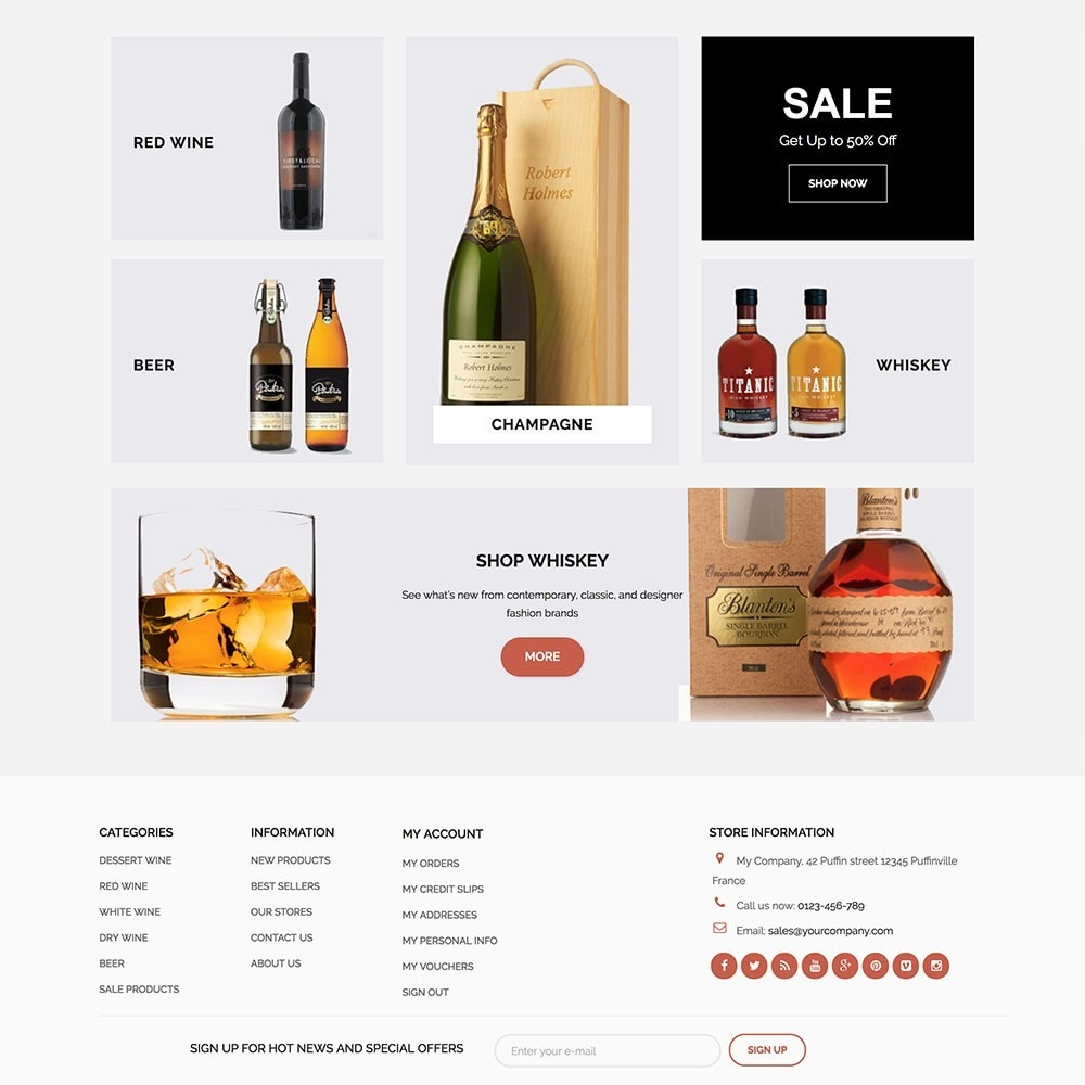theme - Alimentos & Restaurantes - Wineshop - 3