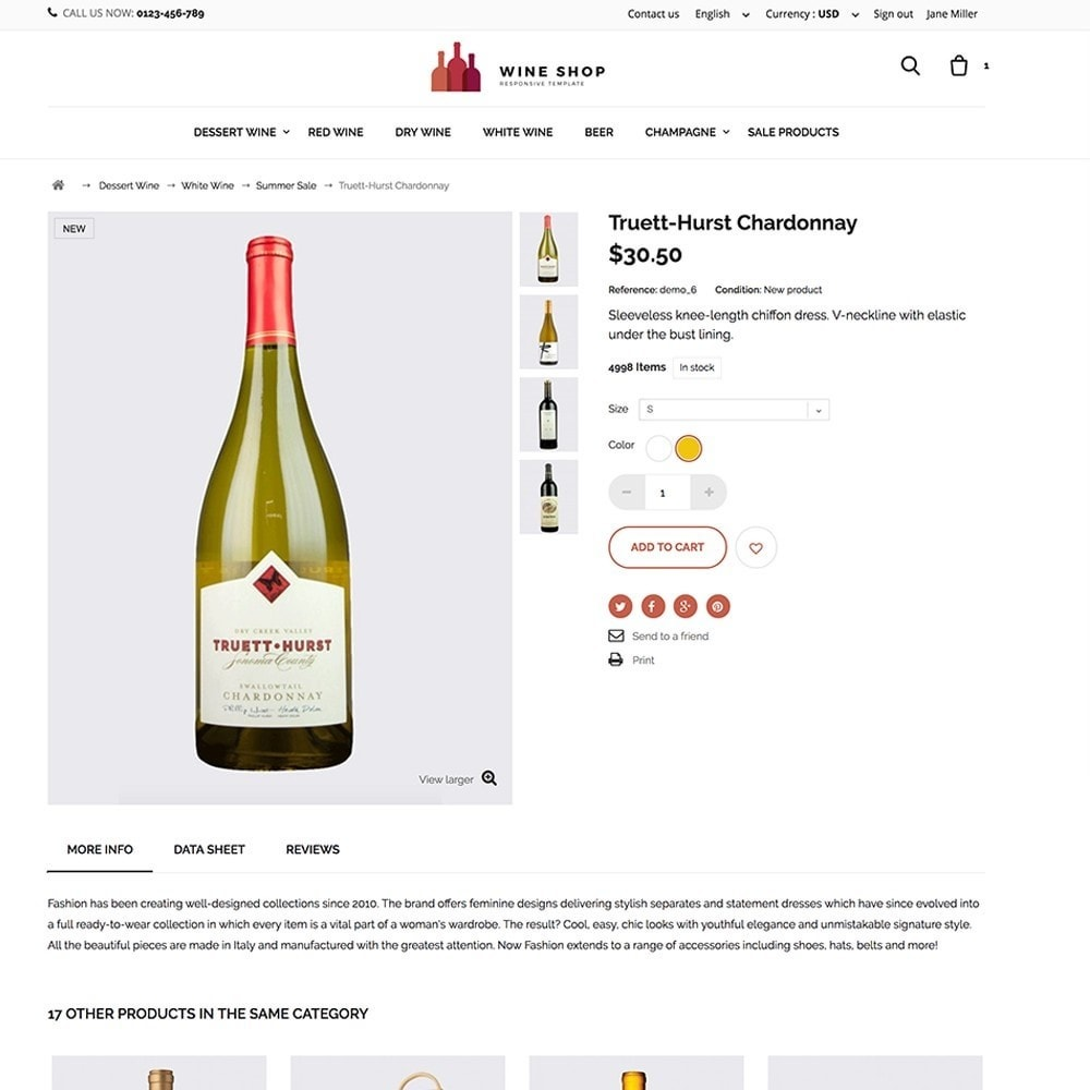 theme - Lebensmittel & Restaurants - Wineshop - 4