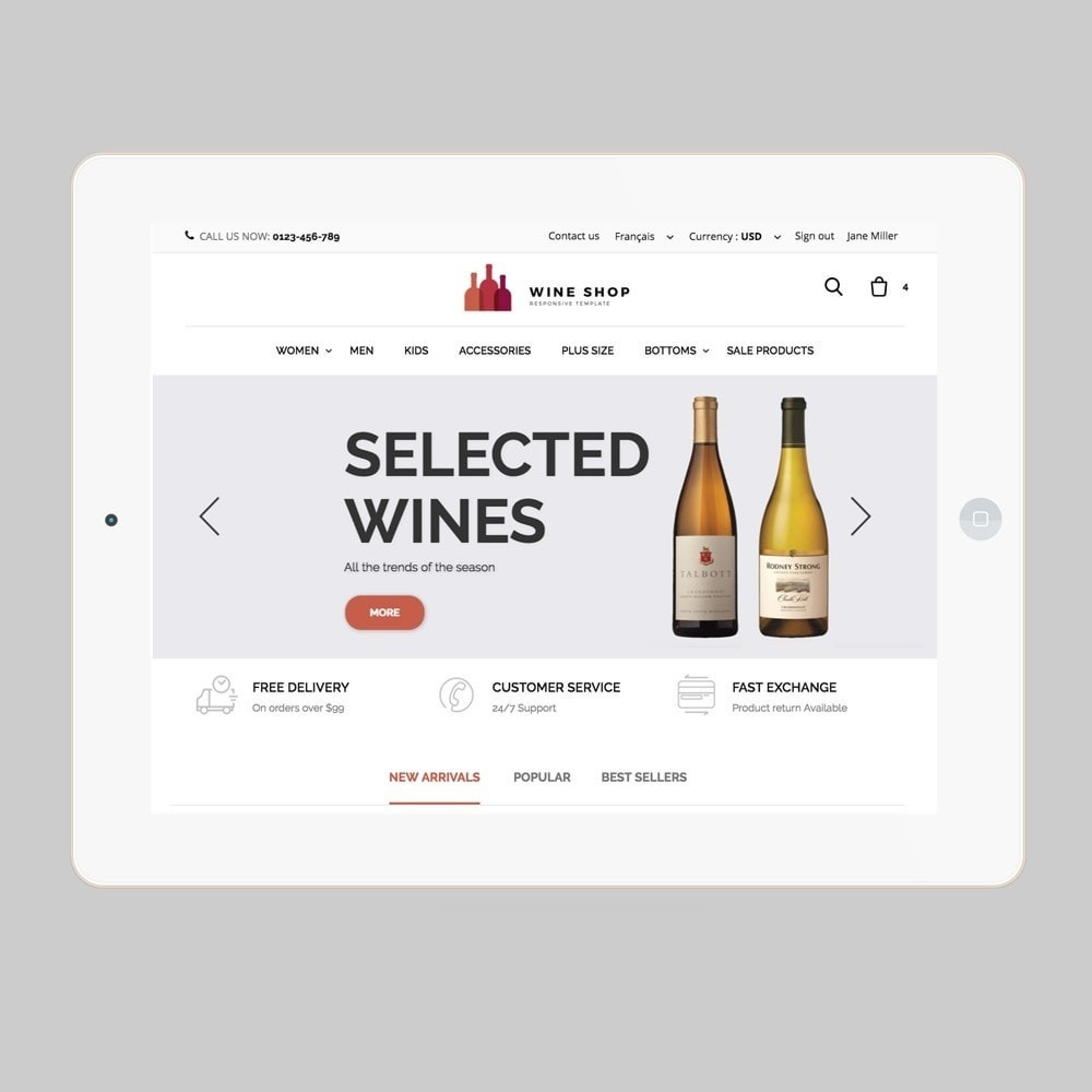theme - Alimentos & Restaurantes - Wineshop - 7