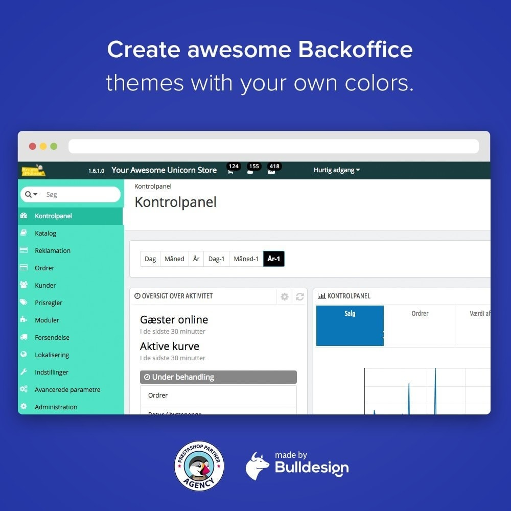 module - Personnalisation de Page - Backoffice Admin Theme Branding and Login Customizer - 2