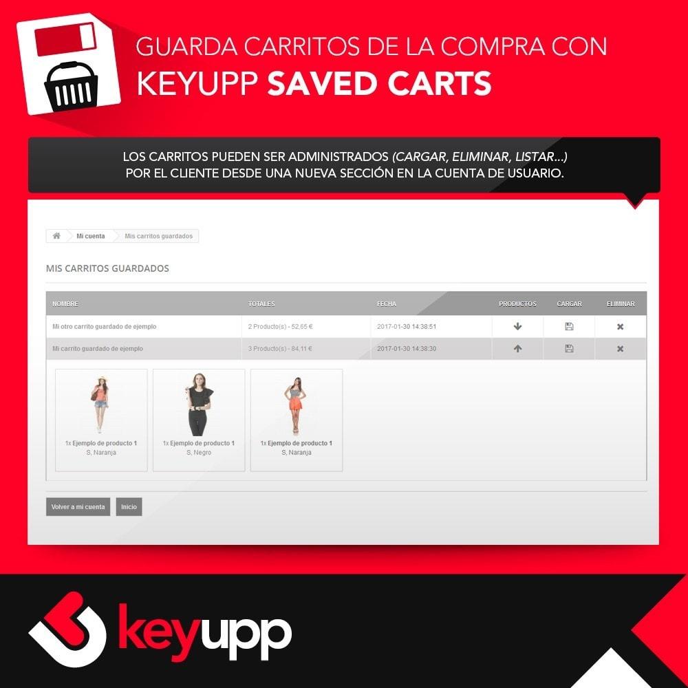 module - Inscripción y Proceso del pedido - Guarda tu carrito de la compra - 4