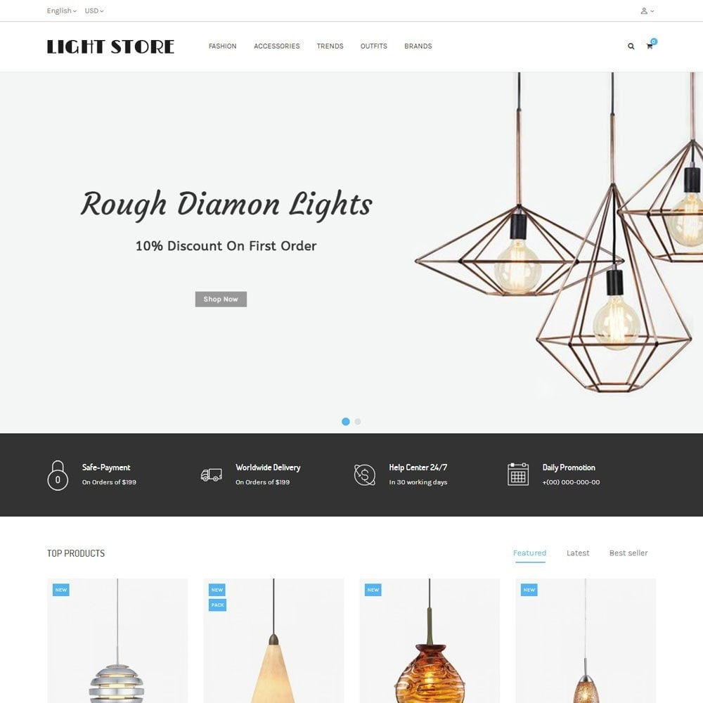 theme - Casa & Jardins - Light Store - 2