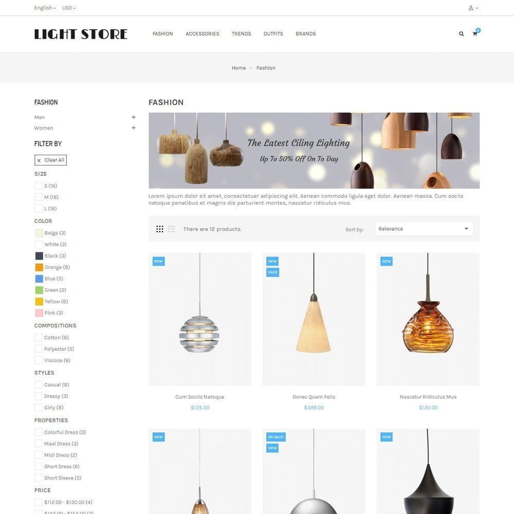 theme - Home & Garden - Light Store - 3
