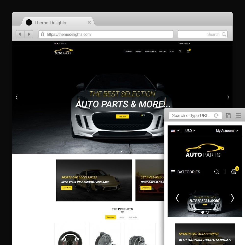 theme - Carros & Motos - Auto Parts Car Store - 1